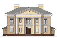 разработка дизайна фасада частного дома