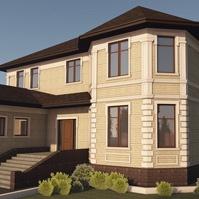 Проект фасада дома с декором
