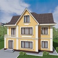 дизайн проект дома с декоративными элементами белого цвета
