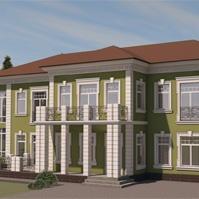 Проект фасада дома в петровском стиле
