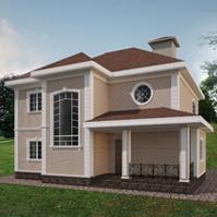 дизайн проект фасада с декором из пенополистирола