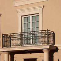 Обрамление двери балкона, наличник