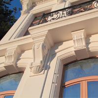 Декоративные элементы на фасаде особняка