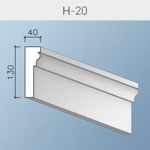 Оформление окна наличником 130 мм.