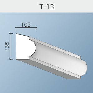 Наличники цоколя и тяги Т-13