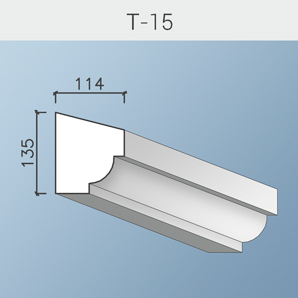 Наличники цоколя и тяги Т-15