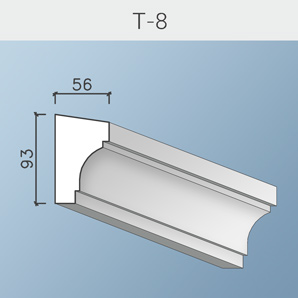 Наличники цоколя и тяги Т-8