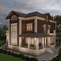 Проект оформления фасада дома из кирпича ЛСР