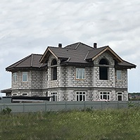 Дом из газобетона до отделки