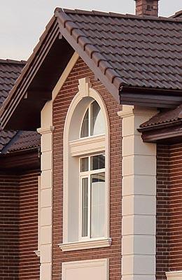 фасадный декор на кирпичный фасад