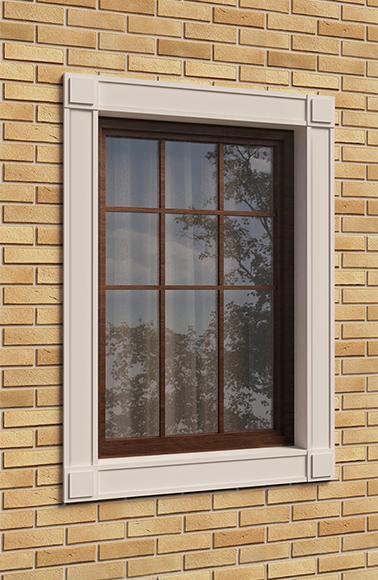 Наличники окна на фасаде здания