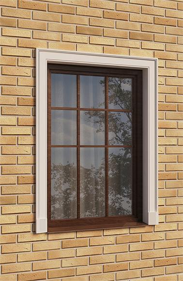 Оформление окна наличником