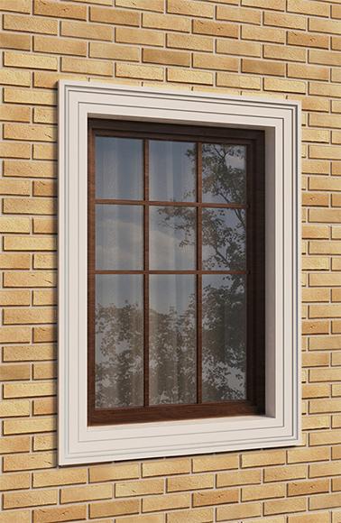 наличник по периметру окна
