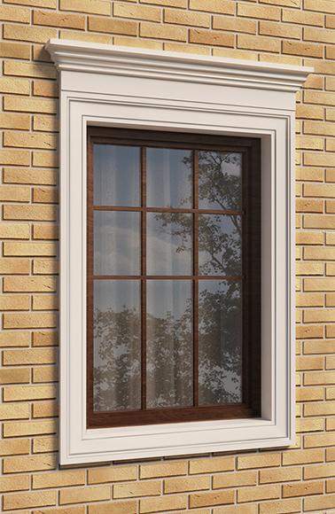 Оформление окна на фасаде
