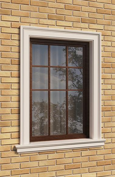 оформление окна наличником и подоконником