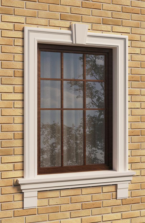 Обрамление окна декором