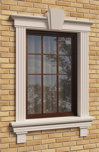 Пример оформления окна фасада