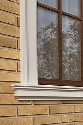 Подоконник окна фасадный декор