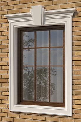 оформление окна декором