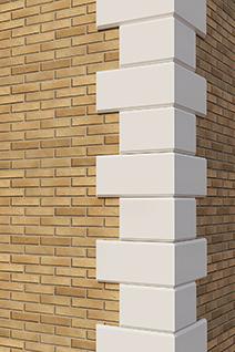 рустовые камни на угол дома