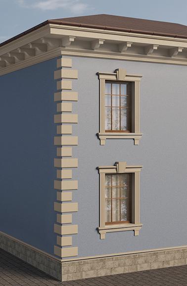 комплексное решение декора фасада дома