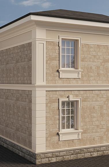 классический фасад дома решение