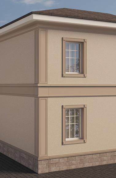 угловые лопатки на фасаде
