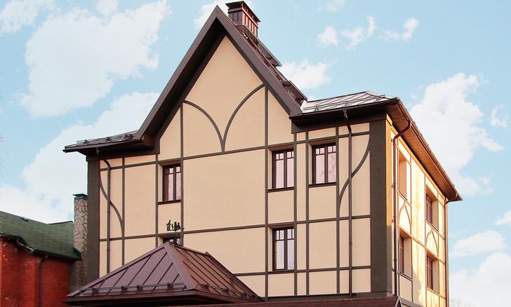 Декоративный фахверк на фасаде