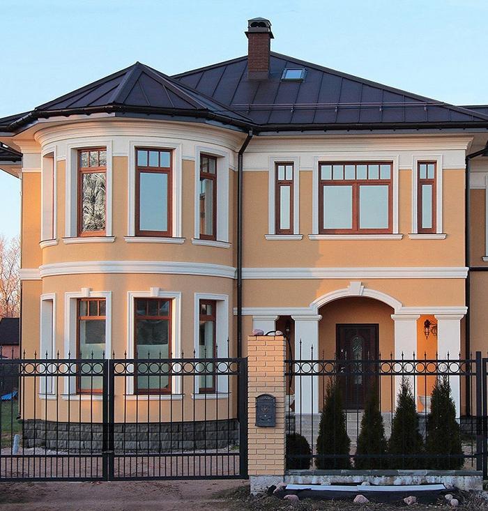 цокольный карниз на фасад