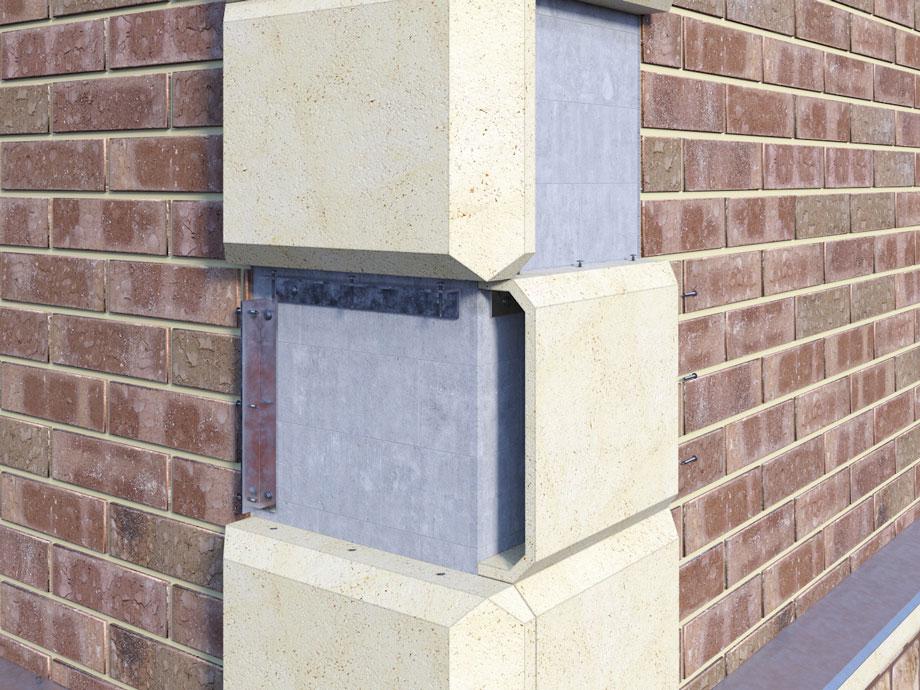 монтаж рустованных камней на фасад