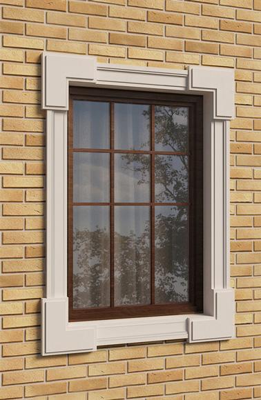 имитация каменного декора на окно