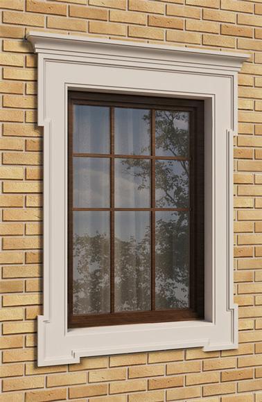классическое обрамление окна с сандриком