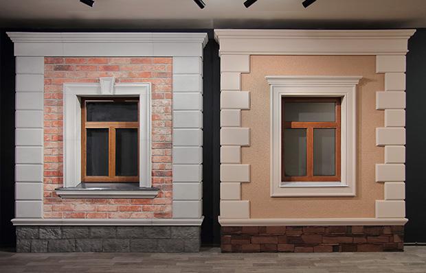 стенды с фасадным декором в офисе