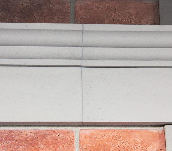стык фасадного декора архио